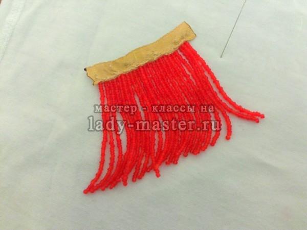 Серьги из бисера в форме кисточек своими руками, пошаговый мастер класс