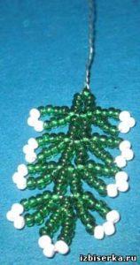 Новогодняя ёлочка из бисера с пошаговыми фото