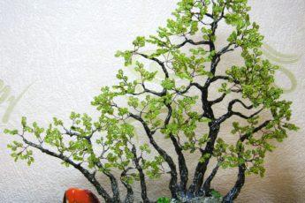 Лесное дерево из бисера - мини мастер класс