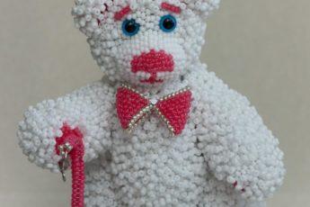 Медведь Леонард из бисера - оригинальная игрушка: лондонский мастер класс