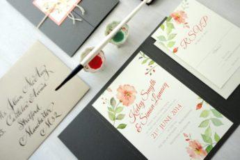 Акварельные пригласительные на свадьбу: как сделать приглашение своими руками