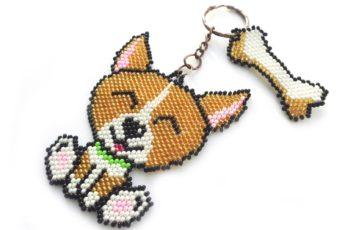 Собачка-брелок из бисера мастер класс с пошаговым фото