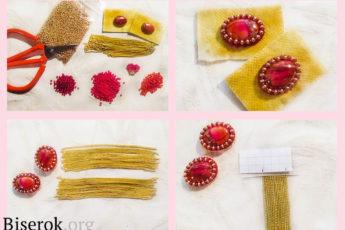 Цветочные мотивы в серьгах из бисера - пошаговые схемы