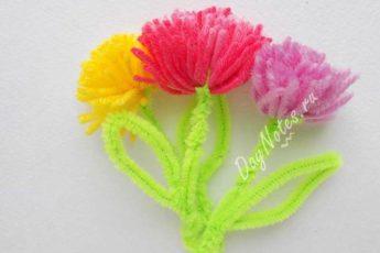 Цветы из ниток и проволоки своими руками - пошаговый алгоритм
