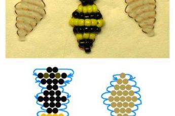 Яркий брелок Пчелка из бисера в пошаговой инструкции