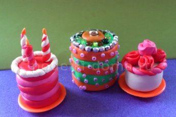 Как слепить торт из пластилина своими руками: мастер-класс с фото