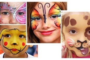 Рисунки на лице для девочек - красками, гуашью, легкие и красивые, простые для игр в домашних условиях